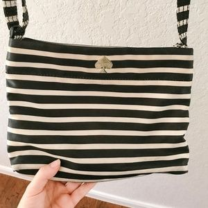 Kate Spade Striped Nylon Crossbody